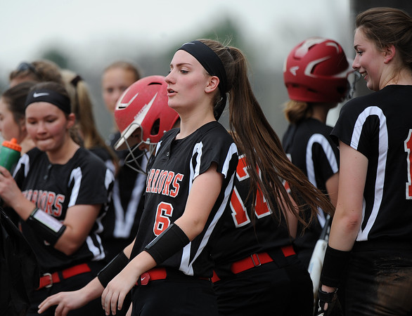 5/3/2018 Mike Orazzi | Staff Wamogo's Mackenzie Harnett (6) during Thursday's softball game with Terryville in Plymouth.