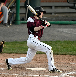 5/2/2018 Mike Orazzi | Staff Bristol Central's Ryan Krompegal (2) during Wednesday's baseball game at Muzzy Field.