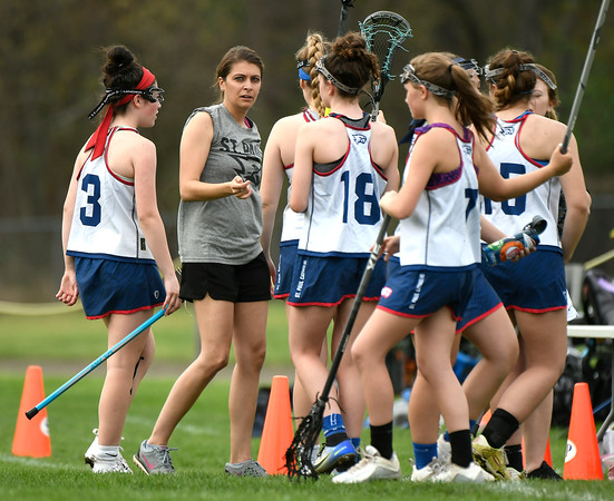 5/4/2018 Mike Orazzi | Staff St. Paul Girls Lacrosse Coach Elaine Bowman Friday in Bristol.