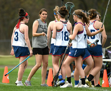 5/4/2018 Mike Orazzi | Staff St. Paul Girls Lacrosse Coach  Elaine Bowman Friday in Bristol.