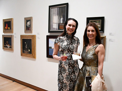 5/5/2018 Mike Orazzi | Staff Janna Kelley and Veronica Badiola during the NBMAA 18th annual spring gala and auction, The Art Party of the Year, held Saturday night in New Britain.