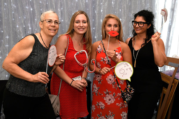 5/9/2018 Mike Orazzi | Staff Bristol Hospital's Ellen Pappalardo, Meagan Brown, Nicole Pires and Krystina Benoit during Bristol Hospital's 2nd Annual Nurses' Dinner held at the DoubleTree by Hilton Wednesday evening.