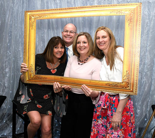 5/9/2018 Mike Orazzi | Staff Kurt Barwis, president and CEO of Bristol Hospital, with Nancy LaMonica, Darlene Dionne and Jennifer Foss during Bristol Hospital's 2nd Annual Nurses' Dinner held at the DoubleTree by Hilton Wednesday evening.