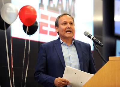 6/5/2018 Mike Orazzi | Staff Kevin Martinez, vice president, corporate outreach at ESPN, during the  ESPN Volunteer of the Year Award Celebration held in Bristol Tuesday afternoon.
