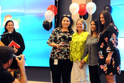 6/5/2018 Mike Orazzi   Staff Charlotte ESPN team members and winners of the Volunteer Team of the Year during the ESPN Volunteer of the Year Award Celebration held in Bristol Tuesday afternoon.