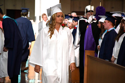 6/5/2018 Mike Orazzi | Staff St. Paul Catholic High School's Katelynn Oullette during Tuesday evening's commencement ceremony at the Cathedral of Saint Joseph in Hartford.
