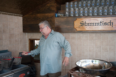 05/30/18  Wesley Bunnell | Staff  East Side Restaurant co-owner Nicholas Augustino discusses the kitchen lay out for a seafood seafood expansion of the restaurant called The Clam Box which is due to open soon.