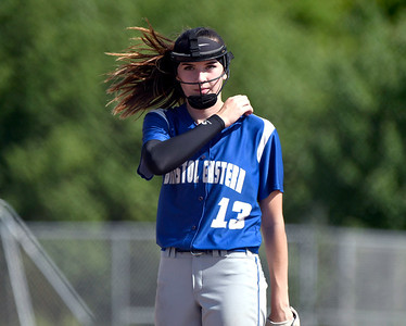 5/30/2018 Mike Orazzi | Staff Bristol Eastern's Erin Girard during Wednesday's Class LL Second Round Softball game with South Windsor in Bristol.