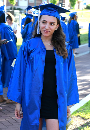 5/30/2018 Mike Orazzi | Staff Tunxis Community College graduate Ashley Tirado during Wednesday night's commencement held at CCSU in New Britain.