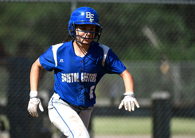 5/30/2018 Mike Orazzi | Staff Bristol Eastern's Taylor Keegan (6) during Wednesday's Class LL Second Round Softball game with South Windsor in Bristol.
