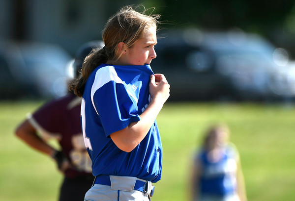 5/30/2018 Mike Orazzi | Staff Bristol Eastern's Kylie Wolfradt (12) during Wednesday's Class LL Second Round Softball game with South Windsor in Bristol.