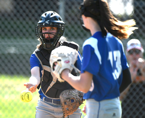 5/30/2018 Mike Orazzi | Staff Bristol Eastern's Paige McLaughlin (2) during Wednesday's Class LL Second Round Softball game with South Windsor in Bristol.