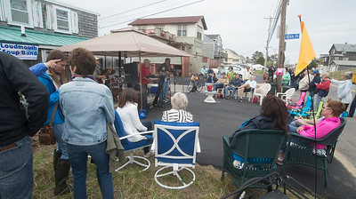 JIM VAIKNORAS/Staff photo The Loudmouth Soup Band perfroms on 10th Street on Plum Island at the annual Plum Fest which featured music throughout the island Saturday.