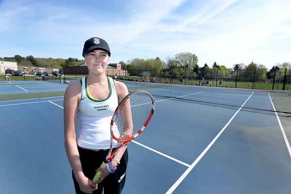 BRYAN EATON/Staff photo. Pentucket tennis player Maggie Aulson.
