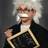 BRYAN EATON/Staff photo. Aubrey Pearson, 8, takes on the persona of physicist Albert Einstein and presents his biography. He was at Salisbury Elementary School's Living Museum on Wednesday afternoon with other second-graders presenting a person they chose from history to their parents and other classes.