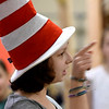JIM VAIKNORAS/Staff photo Hannah Balaam, 14,  as the Cat in the Hat  in the Amesbury Community Theatre's production of Seussical the Musical.