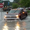A pickup makes the turn at Washington Avenue, Effingham. Dawn Schabbing photo