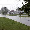 Main St. in St. Elmo was submerged by flood waters Wednesday evening. Charles Duckworth photo