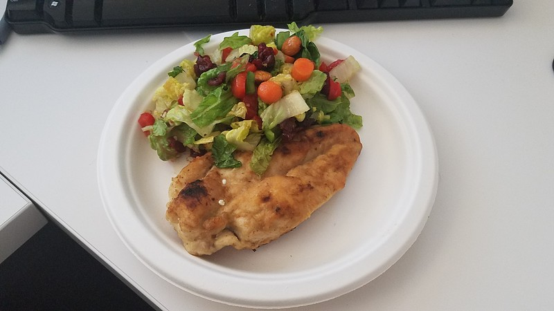 Fred Schmid - Grilled lemon chicken with a side salad