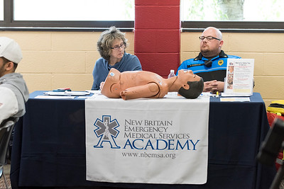 05/13/19  Wesley Bunnell | Staff  Several health organizations spoke on Monday afternoon at the New Britain Public Library regarding the opioid epidemic plaguing the country.  Members of New Britain EMS Academy were one of several organizations present.