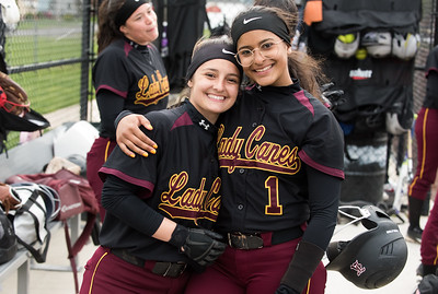 04/29/19  Wesley Bunnell | Staff  New Britain softball defeated Conard at Chesley Park on Monday afternoon.  Amanda Jacobs (5) and Josleen Rivera (1).