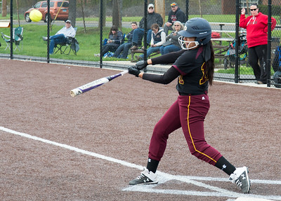 04/29/19  Wesley Bunnell | Staff  New Britain softball defeated Conard at Chesley Park on Monday afternoon.  Paola Martinez (12).