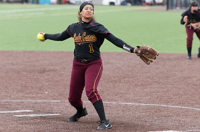 04/29/19  Wesley Bunnell | Staff  New Britain softball defeated Conard at Chesley Park on Monday afternoon. Josleen Rivera (1).