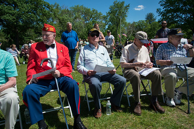05/27/19  Wesley Bunnell | Staff  Bristol held Memorial Day ceremonies on Monday morning ending with a ceremony which presented World War II veterans with All Heart Awards from the city.  Seated are veterans and award recipients George Burns,  James Cleveland, Al Caruso, and Joseph Christophero.