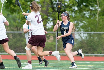05/10/19  Wesley Bunnell | Staff  Newington girls lacrosse defeated Bristol Central in an away game at Bristol Central High School on Friday afternoon. Newington's Reagan Pelton (4).