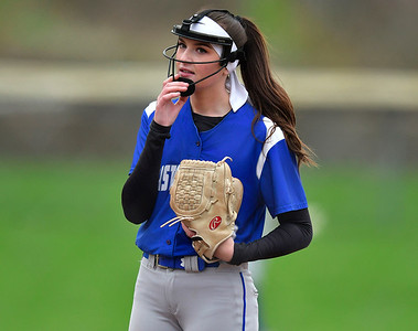5/1/2019 Mike Orazzi | Staff Bristol Eastern's Erin Girard (13) during Wednesday's softball game with Bristol Central at Casey Field.