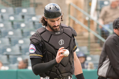 05/16/19  Wesley Bunnell   Staff  The Lancaster Barnstormers defeated the New Britain Bees 10-3 during an early 10:30 a.m. start featuring thousands of CSDNB school children in attendance.  Tyler Clark (13) examines the ball after a pitch.