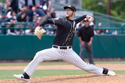 05/16/19  Wesley Bunnell | Staff  The Lancaster Barnstormers defeated the New Britain Bees 10-3 during an early 10:30 a.m. start featuring thousands of CSDNB school children in attendance.  Brandon Fry (20).