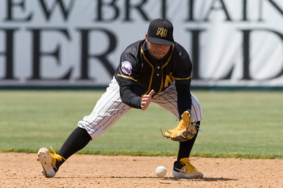 05/16/19  Wesley Bunnell   Staff  The Lancaster Barnstormers defeated the New Britain Bees 10-3 during an early 10:30 a.m. start featuring thousands of CSDNB school children in attendance. Alexi Amarista (2) fields ground balls between innings.