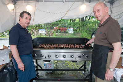 05/17/19  Wesley Bunnell | Staff  The 36th annual Greek Festival at St. George Greek Orthodox Church is taking place thru Sunday.  Art Pastakis and John Georgopoulos cook kebob on the grill.