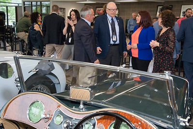 05/17/19  Wesley Bunnell | Staff  The Paddock Classic Car Restorations held a ribbon cutting ceremony on Friday including car aficionados and local city officials. Michael Donnelly, President of The Paddock Classic Car Restorations, L, Alderman Don Naples, Mayor Erin Stewart and Pat Donnelly.