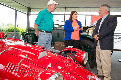 05/17/19  Wesley Bunnell | Staff  The Paddock Classic Car Restorations held a ribbon cutting ceremony on Friday including car aficionados and local city officials.  Jerry Lettieri, Mayor Erin Stewart and Michael Donnelly, President of The Paddock Classic Car Restorations.