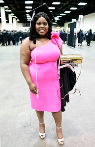 5/18/2019 Mike Orazzi | Staff CCSU graduate Breanna Hunter on commencement day at the XL Center in Hartford on Saturday.