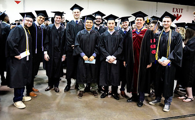 5/18/2019 Mike Orazzi | Staff CCSU graduates on commencement day at the XL Center in Hartford on Saturday.
