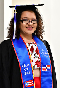 5/18/2019 Mike Orazzi | Staff CCSU graduate Lizabeth Minaya on commencement day at the XL Center in Hartford on Saturday.