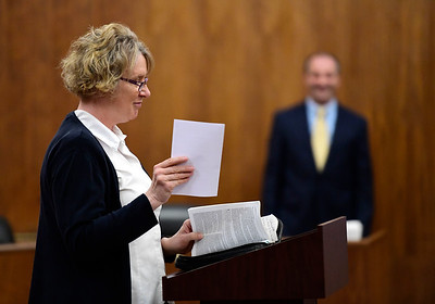 5/2/2019 Mike Orazzi | Staff The Salvation Army's Marge Rivera during National Day of Prayer at Bristol City Hall on Thursday.