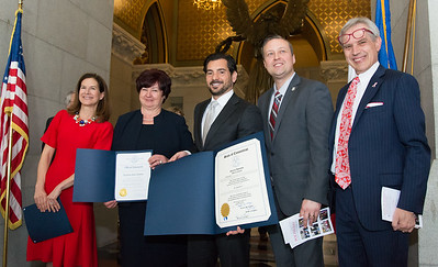 05/02/19  Wesley Bunnell | Staff  Polish Day at the Capitol, in its 28th year, took place at the State Capitol Building on Thursday morning which also commemorates the 228th anniversary of the Polish constitution. Lt. Governor Susan Bysiewicz, L, citation recipient Ela Zlotnik, State Senator Gennaro Bizzaro and Rep. Peter Tercyak, far R.
