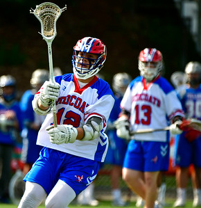 5/22/2019 Mike Orazzi | Staff Berlin's Marco Scarano (12) during Wednesday's boys lacrosse with Tolland at Sage Park in Berlin.
