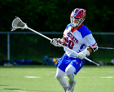 5/22/2019 Mike Orazzi | Staff Berlin's Domenic Scarano (20) during Wednesday's boys lacrosse with Tolland at Sage Park in Berlin.