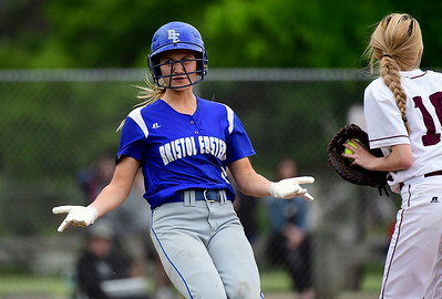 5/23/2019 Mike Orazzi | Staff Bristol Eastern's Zoe Lowe (8) during a win over Central at BEHS Thursday afternoon.