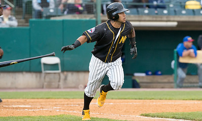05/24/19  Wesley Bunnell | Staff  New Britain Bees vs the High Point Rockers on Friday night at New Britain Stadium. Alexi Amarista (2).