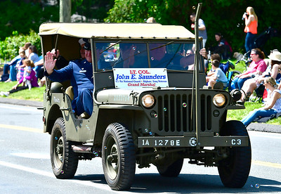 5/25/2019 Mike Orazzi | Staff Lt. Col. John E. Saunders, grand marshall of the Newington Memorial Day parade on Saturday.