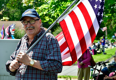 5/25/2019 Mike Orazzi | Staff Joe Pantaleao during the annual Newington Memorial Day parade on Saturday.