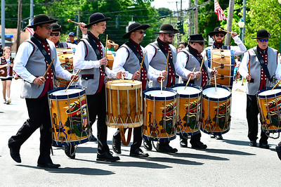 5/25/2019 Mike Orazzi | Staff The Connecticut Patriots march during the annual Newington Memorial Day parade on Saturday.