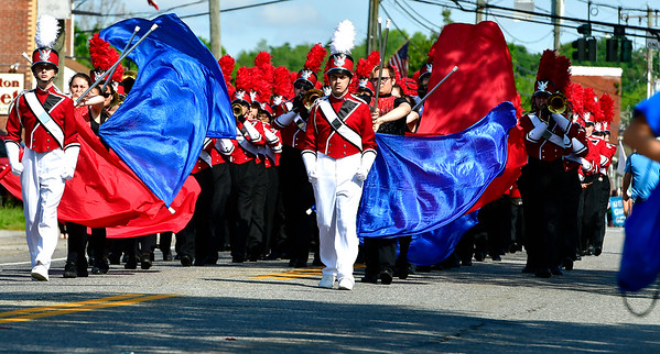 5/25/2019 Mike Orazzi | Staff The Berlin High School Marching Band during the town's annual  Memorial Day Parade on Saturday along Farmington Avenue.