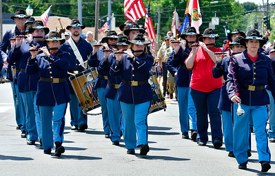 5/25/2019 Mike Orazzi | Staff The Connecticut Blues march during the annual Newington Memorial Day parade on Saturday.